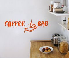 Vinyl Decals  Coffee Bar Cup Beans Quote Home Wall  by BestDecals, $26.99