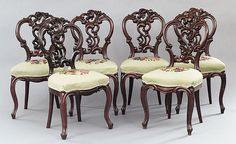 Ameican Rococo chairs, 19th century