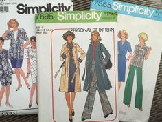 Vintage Sewing Patterns Lot Womens Simplicity McCalls Plus Size 22 24 26W 32W
