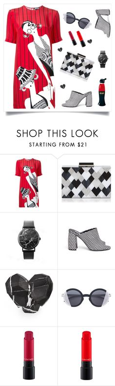 """T-shirt dress_lucy"" by clairsnotebook ❤ liked on Polyvore featuring Holly Fulton, Sondra Roberts, STELLA McCARTNEY, Kelly Wearstler, Mykita, MAC Cosmetics, Moschino, tshirtdresses and 60secondstyle"