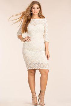 f43e0b1e04 A GACI l Saundra Off Shoulder Lace Bodycon Dress l  AgaciPlus Plus Size  Bodycon