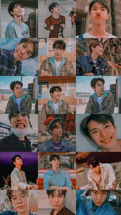 J Pop, Cute Pastel Wallpaper, Wallpaper Ideas, Korean Best Friends, Nct 127 Mark, Nct Doyoung, Huang Renjun, Teen Photography, Hip Hop