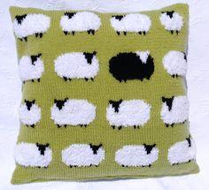 Flock of sheep cushion Knitting pattern by iKnitDesigns | Knitting Patterns | LoveKnitting