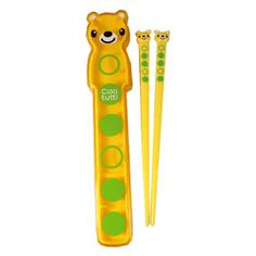 Ciaotutti Yellow Bear Chopsticks & Case Set