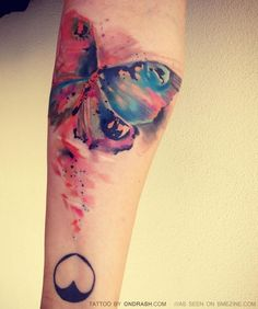 Watercolor ink- arm tattoo #tattoo #tat #ink