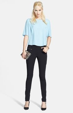 Chelsea28 Top & 1.STATE Pants  available at #Nordstrom I like the pants, with the zipper at the ankle