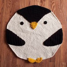 crochet penguin rug