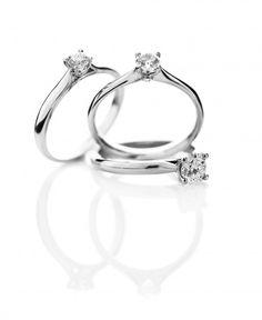 Diamant solitaireringe