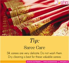 Make sure your silks don't loose their sheen. Retain the grandeur of silk sarees with this quick tip