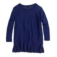 Lightweight Merino Tunic Sweater, JCrew