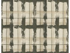Inlander in Pebble by Kelly Wearstler for Lee Jofa Groundworks #textiles #fabric #plaid #acrylic #sunbrella #indooroutdoor #brown