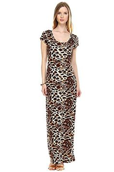Womens Leopard Spotted Casual Knit Fashion Maxi Dress - L... http://www.amazon.com/dp/B01FIDVYQM/ref=cm_sw_r_pi_dp_I5Yvxb0GPMRAF