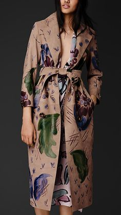 Hand-painted Nubuck Trench Coat | Burberry