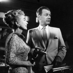 Joan Crawford, Joseph Cotton on the set of Hush Hush Sweet Charlotte