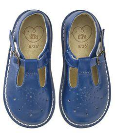 Little Bird Navy Buckle Shoes