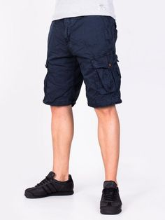 Pantaloni scurti barbati Outdoor albastru marin