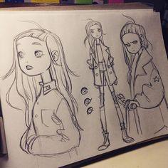 Instagram media by anna_cattish -  #sketching #tanka #alabamacomics