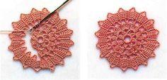 Bruges crochet circle motif