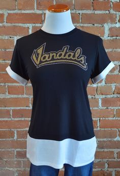 Team 44 Apparel - UNIVERSITY OF IDAHO, COLORBLOCK TEE with Nailhead 'Vandals' Logo