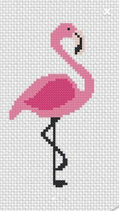 Flamingo cross stitch.