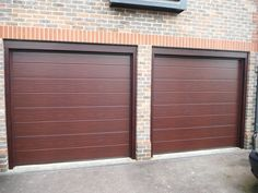 Hormann M Ribbed Sectional Garage Door In Red With White