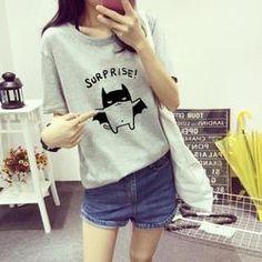 Gray Batcat T-Shirt
