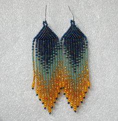 Largo de aretes de perlas de estilo indio estilo tribal