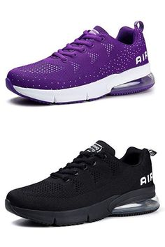 These womens trainers are made with a mesh upper that is breathable and lightweight to keep you feeling light on the run These womens running shoes have an air-cushioned sole to give you more power and comfort when running Outer Material: Synthetic Sole: Rubber Closure: Lace-Up Shoe Width: Medium Womens road running shoes cushion design softens your steps, durable rubber outsole will keep you safe, stable and comfortable on any terrain. The work shoes for women are both#womenshoes