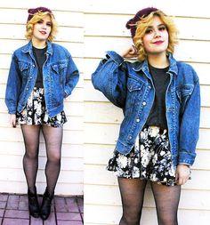 Thrifted Denim Jacket, Sheinside Skirt
