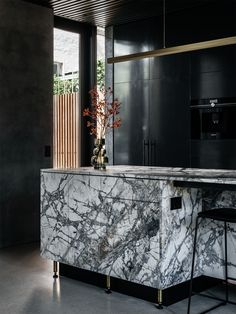 A Discrete Layered Entity Hampden Road House By Archier Hobart Tas Australia Image 17 Kitchen Interior, The Locals, Cottage, Australia, House Styles, Projects, Furniture, Style Ideas, Marble