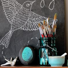 bird drawing for embroidery
