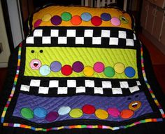Inch worm Baby Quilt from Aug-Sep McCalls Quick Quilts made by Patsy Cosby