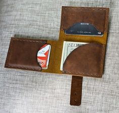 Leather Wallet Simple,FREE SHIPPING, leather card wallet, men's wallet, thin…
