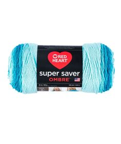 Red Heart Super Saver Ombré Yarn --  Super Saver yarn now comes in gorgeous ombré prints. Colors move from light to dark and back again so you get that gradient look without changing skeins. The yarn does all the work for you all in one skein. Make a beautiful shawl with just one 10 oz. skein or keep going and make a show stopping throw with 4 skeins! Made in the USA.
