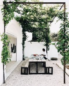"just-good-design: ""Masseria Moroseta Photo: la sultana.s "" just-good-design: ""Masseria Moroseta Photo: la sultana.s "" The post just-good-design: ""Masseria Moroseta Photo: la sultana. Outdoor Rooms, Outdoor Gardens, Outdoor Living, Outdoor Decor, Outdoor Seating, Outdoor Patios, Outdoor Kitchens, Outdoor Ideas, Shed Landscaping"