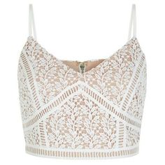 White Lace Crop Top ($26) ❤ liked on Polyvore featuring tops, white top, strappy top, v neck crop top, zip top and evening wear tops