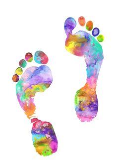 Footprint watercolor illustration by Jasmin Ekström Foot Anatomy, Anatomy Art, Watercolor Illustration, Watercolor Paintings, Baby Footprint Tattoo, Baby Feet Tattoos, Geometric Arrow Tattoo, Tattoo Project, Baby Footprints