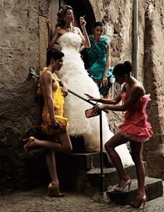 Italian Wedding by David Burton, taken in Rome for Italian Elle Bride, 2010.