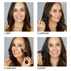 Here are 4 easy steps for a natural-looking contour & highlight. (Click the link in our bio to watch the video featuring our makeup artist @alexsmccormick) #bareMinerals #MUA #MakeupTutorial