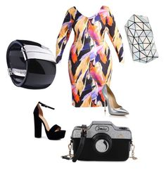 """New Year's Eve styling-plus size"" by joanna-brzegowy on Polyvore featuring moda, Casadei, Boohoo i Bao Bao by Issey Miyake"