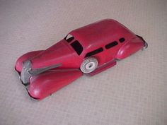 1930s Wyandotte Pressed Steel LaSalle Art Deco Car All Original 15 Inch   eBay Antique Toy Car For Sale
