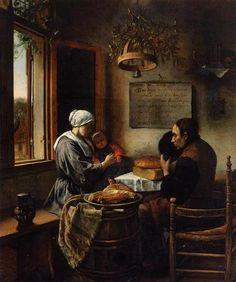 Prayer before Meal - Jan Steen - Completion Date: 1660