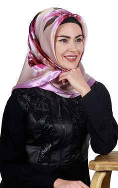 Turkish Fashion, Silk Scarves, Headscarves, Hijabs, Satin, Elastic Satin, Hijab Styles, Hijab Tutorial, Head Scarfs