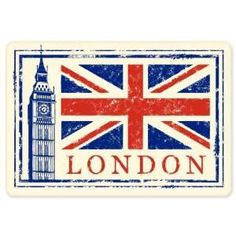 Travel Stickers for Suitcases London | London England travel vinyl window bumper suitcase sticker 5 in x 3 in