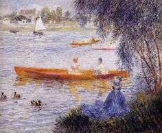 "Renoir: ""Boating at Argenteuil"", 1873. (Private Collection)"