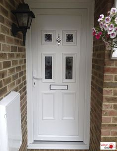 If you're looking for cheap external uPVC doors, high security doors or even upvc doors with side panel, our prices for uPVC Front Doors are hard to beat! Upvc Porches, Upvc French Doors, Security Doors, Doors Online, Composite Door, White Doors, Back Doors, Garage Doors, Outdoor Decor