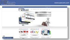 Screenshot del sito web aziendale AZecom.com.  Sito web: http://www.azecom.com
