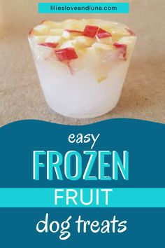 Simple frozen fruit dog treats are a quick treat to make for your dog. Frozen Pumpkin, Frozen Fruit, Pumpkin Dog Treats, Homemade Dog Treats, Fruit Combinations, Dog Ice Cream, Frozen Dog Treats, Types Of Fruit, Different Fruits
