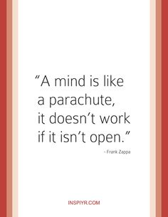 Here's to staying open-minded