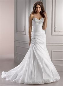 Strapless Sweetheart Wedding Dresses, White Wedding Dresses